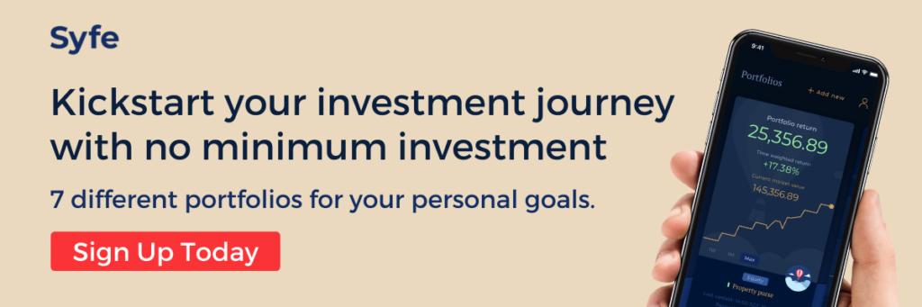 Dollar cost average into Syfe's portfolios with no minimum investment